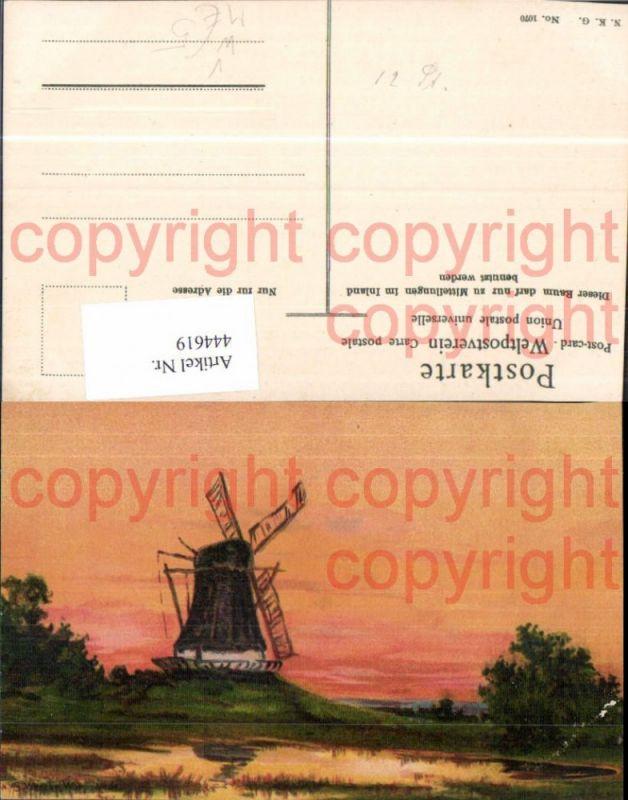 Künstler Ak S. Wencke Worpswede Windmühle pub N.K.G. 1070