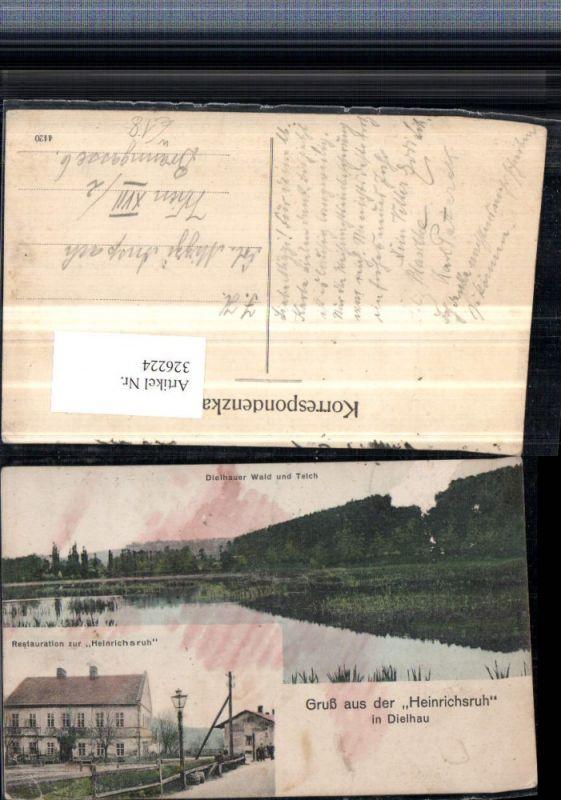 Gruß aus d. Heinrichsruh in Dielhau Dehylov Restauration Wald Teich Mehrb