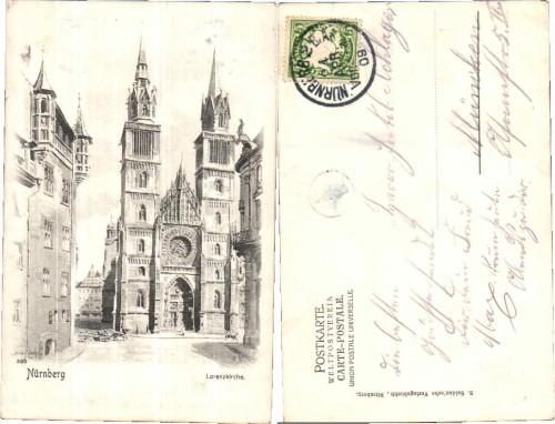 37922;Nürnberg Lorenzkirche 1908