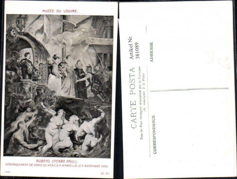 Künstler Ak Pierre-Paul Rubens Debarquement de Marie de Meidicis Nackte F