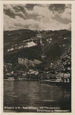 19562;Bregenz am Bodensee See Anlagen Pfänderbahn