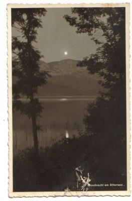 7122;Mondnacht am Attersee 1936