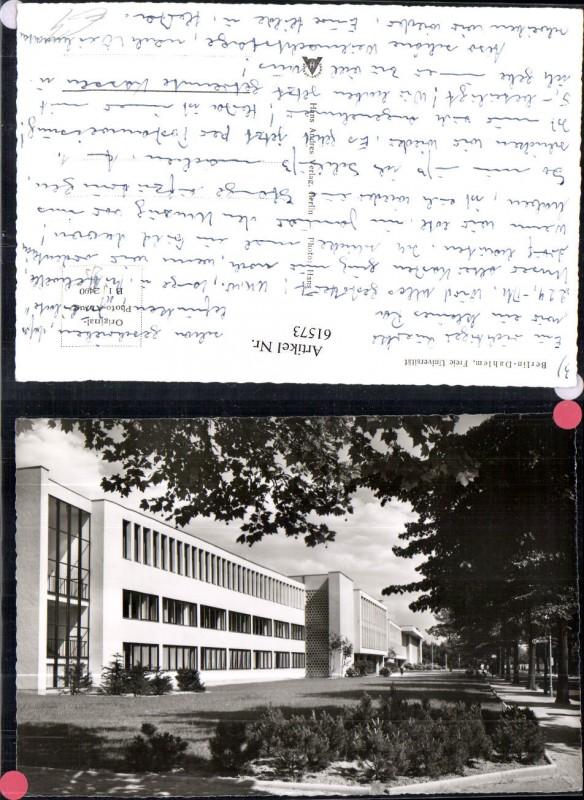 Berlin Dahlem Freie Universität Strassenansicht
