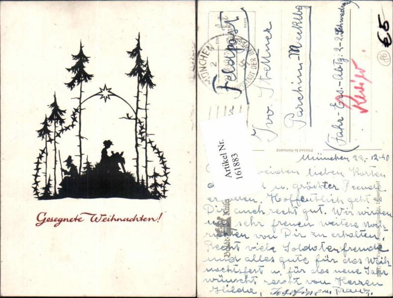Weihnachten Scherenschnitt Silhouette Wald pub Gunkel Nr. 161883 ...