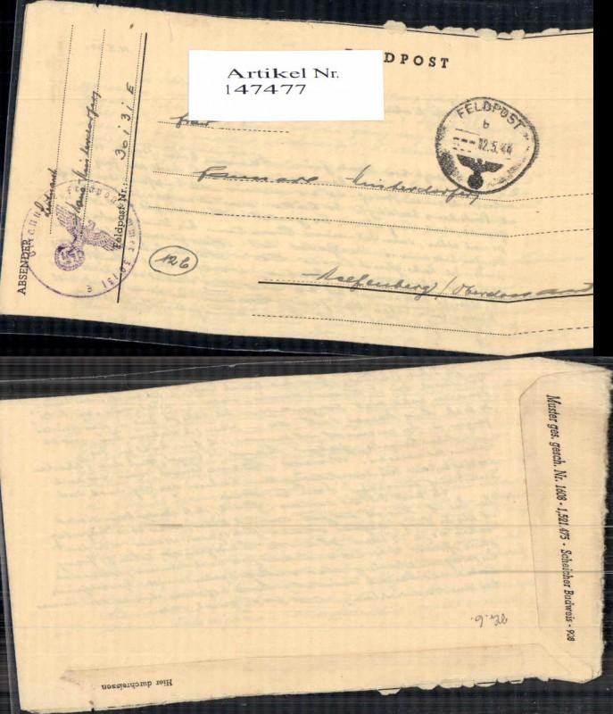 WW2 WK2 Feldpost nach Helfenberg
