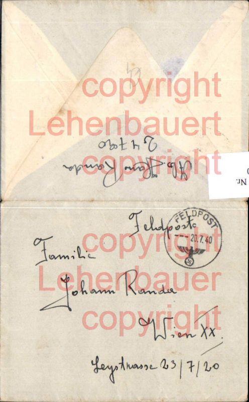 Feldpost WW2 1940 24790 n. Wien 20 Brigittenau