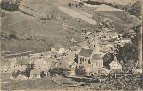21268;Hüttenberg in Kärnten Ortsansicht 1920