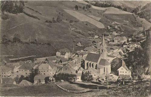 21254;Hüttenberg in Kärnten Ortsansicht 1922
