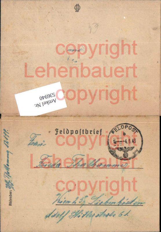 Feldpost WW2 1943 12199 n. Wien Siebenhirten