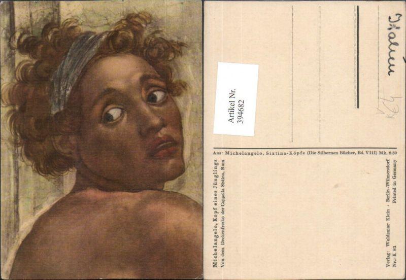 Künstler AK Michelangelo Kopf eines Jünglings Portrait pub Woldemar Klein