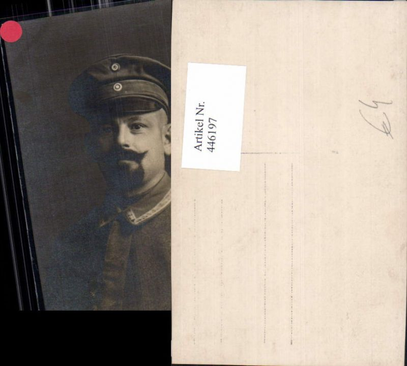 Foto Ak WW1 Soldat Uniform Portrait