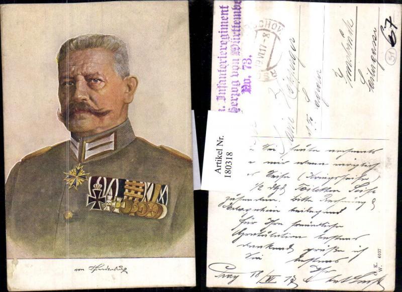 Von Hindenburg Portrait Eisernes Kreuz Abzeichen