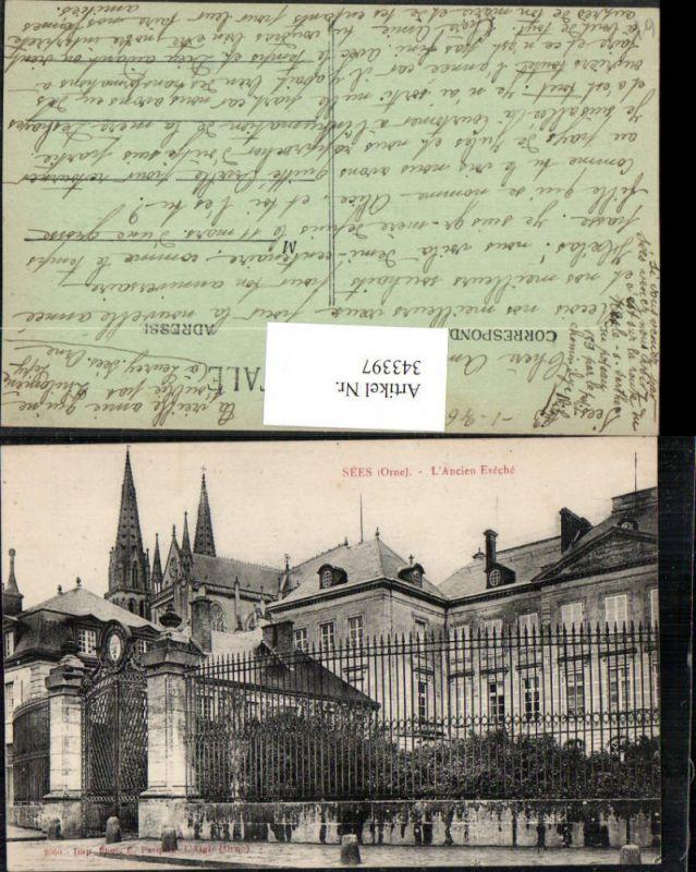Basse-Normandie Orne Sees L'Ancien Eveche Gebäude Kirchentürme