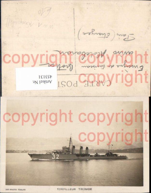 Foto Ak WW1 Kriegsmarine Torpilleur Trombe Kriegsschiff