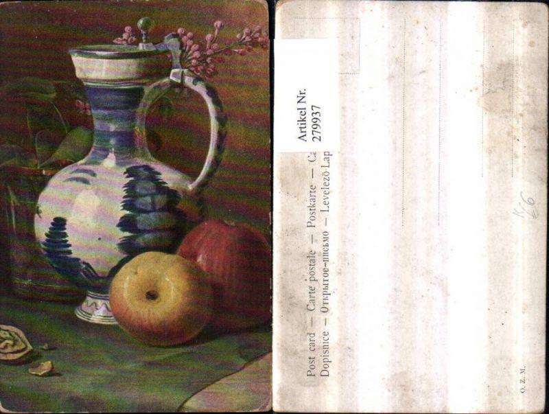Künstler Essen künstler ak essen stillleben äpfel bierkrug krug nr 279937