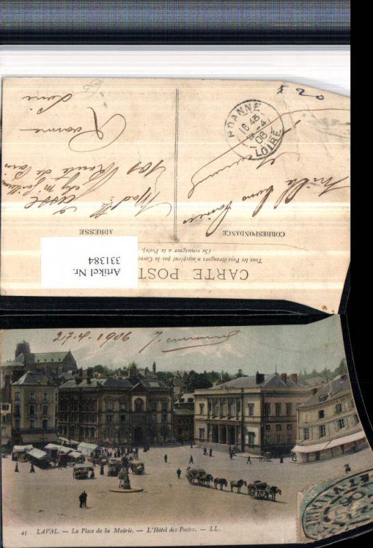Pais de la Loire Mayenne Laval La Place de la Mairie L-Hotel des Postes