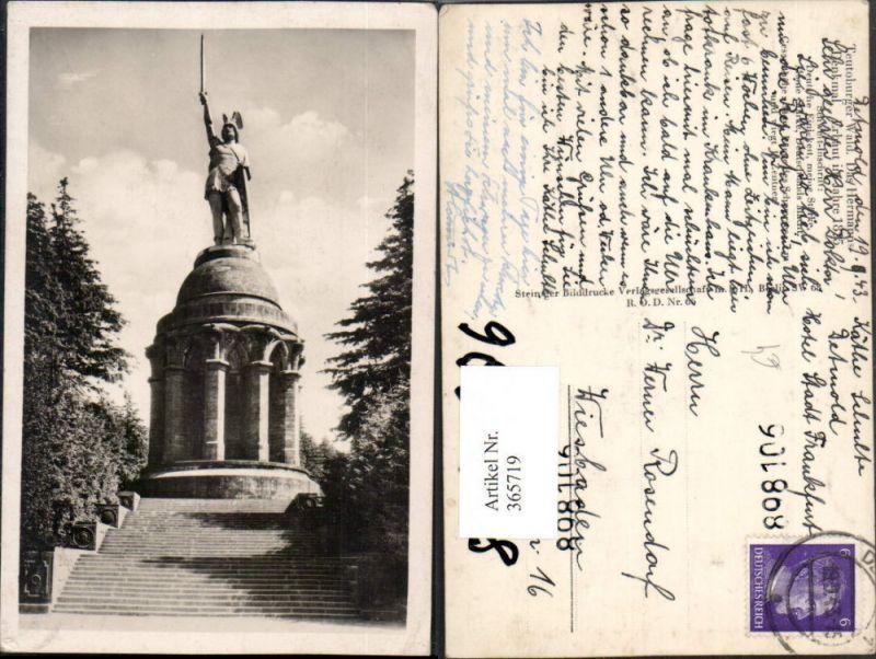 Teutoburger Wald Hermanns-Denkmal Statue b. Detmold