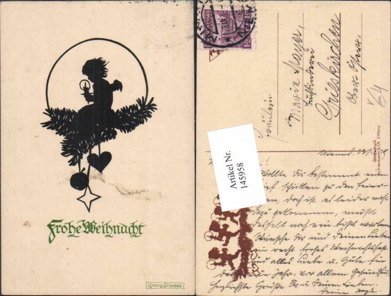 Weihnachten Scherenschnitt Silhouette Georg Plischke Engel Nr ...
