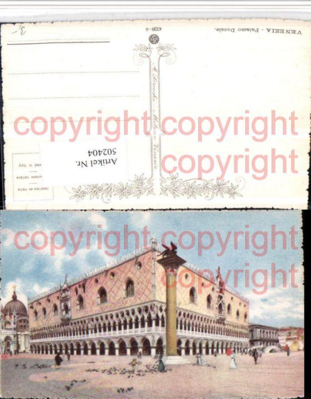 Künstler AK Veneto Venezia Venedig Palazzo Ducale Dogenpalast