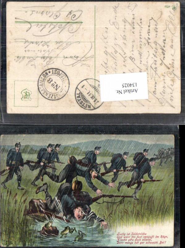Humor Juxkarte Soldaten Schweiz Infanterie