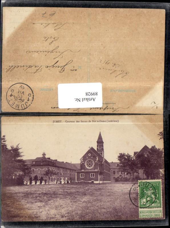 Jumet Couvent des Soeurs de Notre-Dame Ansicht Kirche 1912