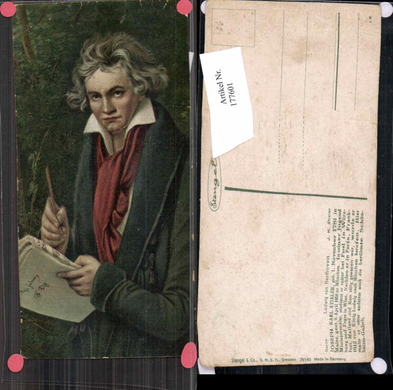 Künstler AK Stengel & Co. 29140 Joseph Karl Stieler Ludwig v. Beethoven