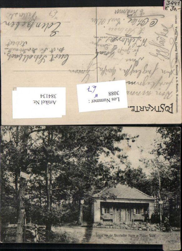 Gruß von d. Neustädter Hütte im Pfalzer Pfälzer Wald b. Lambrecht