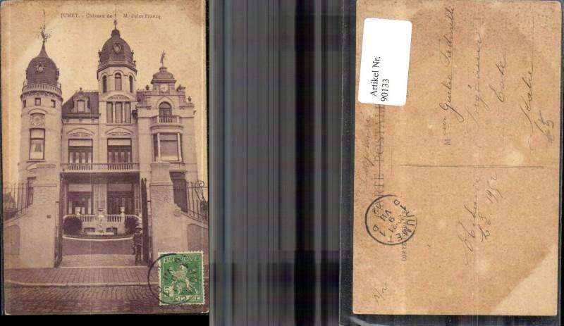 Jumet Chateau d M. Jules Francq Frontansicht 1912
