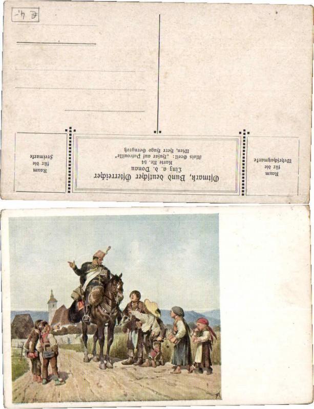 61674;Dt Schulverein 54 A. Greil Husar Patrouille