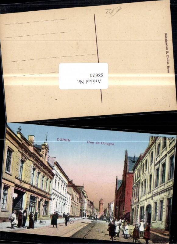 Düren Rue de Cologne Strassenansicht m. Personen