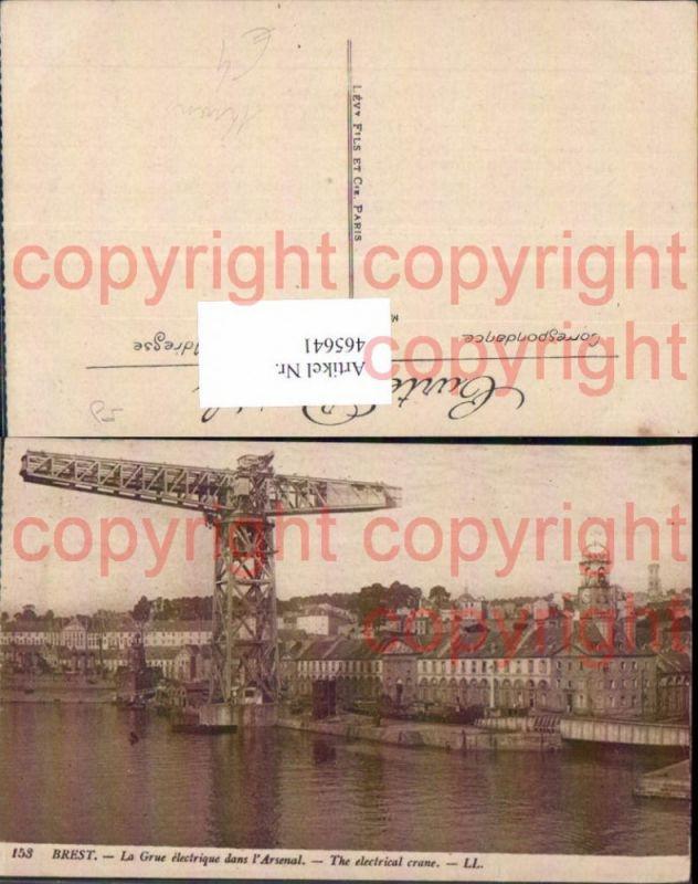 Brest La Grue electrique dans l Arsenal The electric crane Kran Hafen