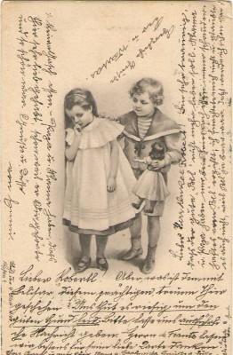 26912;Jugendstil Mädchen Puppe Spielzeug Kinder