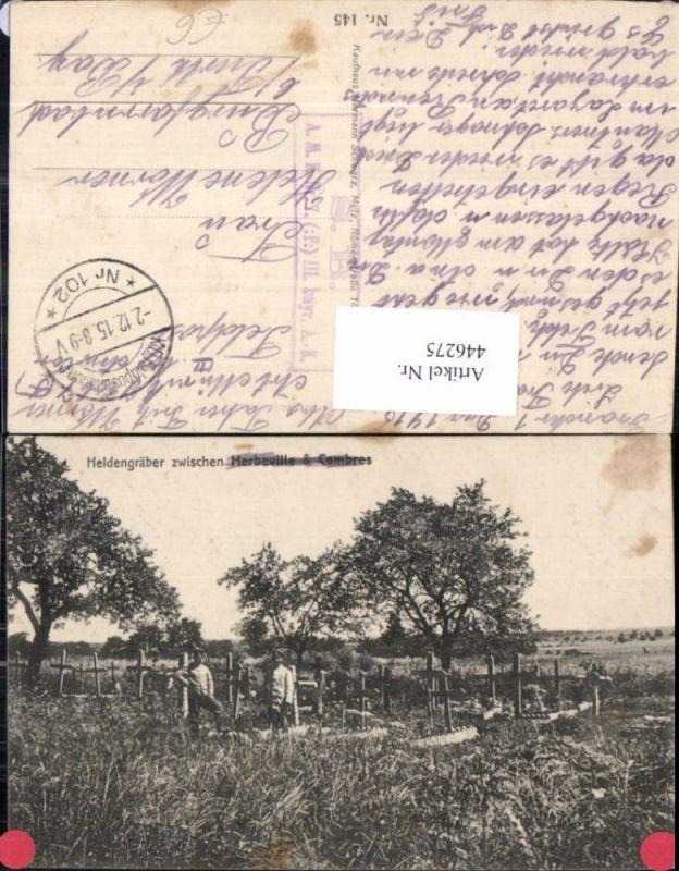WW1 Heldengräber zw. Herveville u. Combres Soldaten Gräber Tod