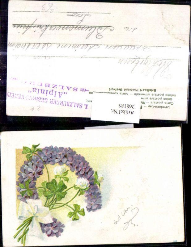 Blumen Hufeisen Veilchen Klee Kleeblüten Schleife Stempel I. Salzburger G