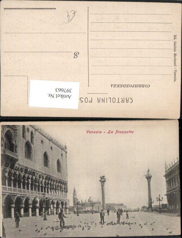 Veneto Venezia Venedig La Piazzetta Markusplatz Tauben
