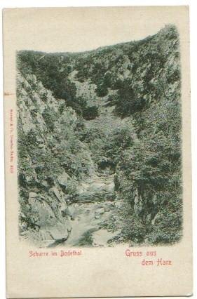 1749;Gruss aus dem Harz Bodethal Bodetal -Die Schurre