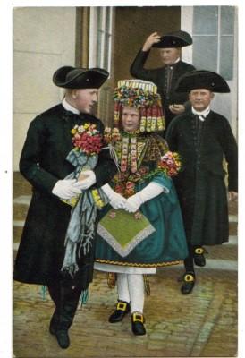 Hessische Trachten Schwälmer Brautpaar Trauung
