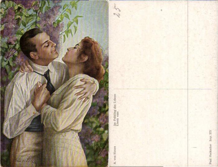 43775;Artist Pc A. Von Riesen Im Frühling des Lebens