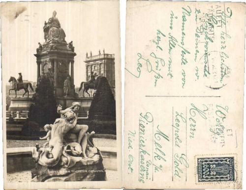 35969;Wien 1 Maria Theresia Denkmal 1920