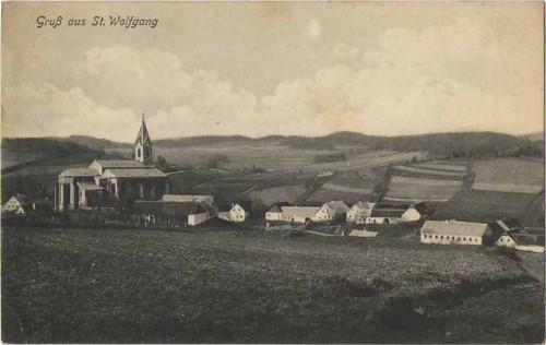 21020;Gruss aus St Wolfgang b. Weitra 1933 Bahnpost