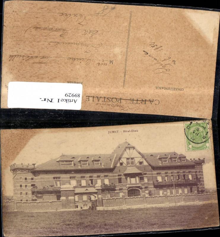 Jumet Hotel Dieu Frontansicht 1952