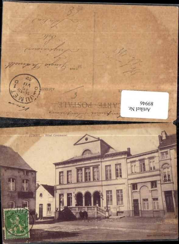 Jumet Hotel Communal Frontansicht 1912