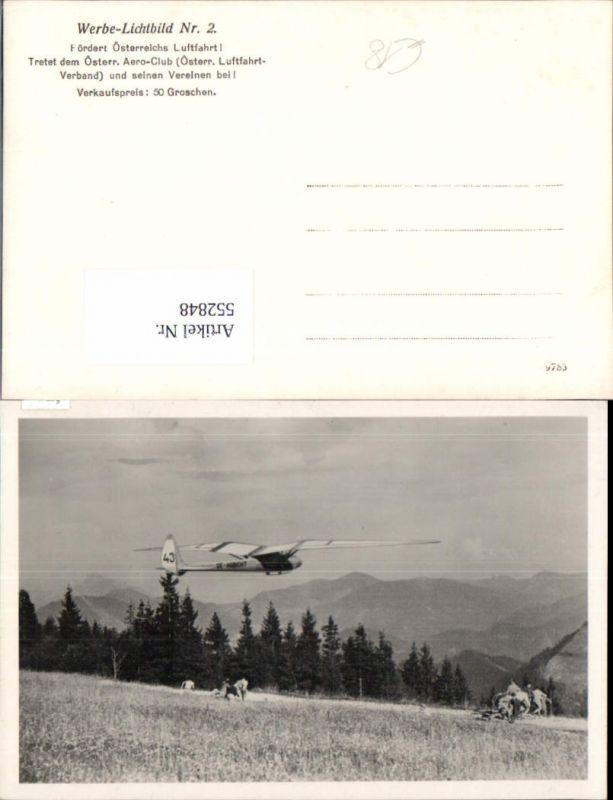 Aviatik Luftfahrt Segelflieger Habicht Flugzeug Werbe Lichtbild Aero Club