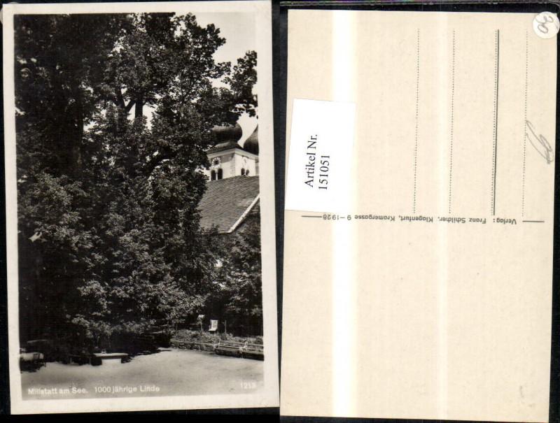 Millstatt a. Millstättersee Ansicht 1000jährige Linde Baum