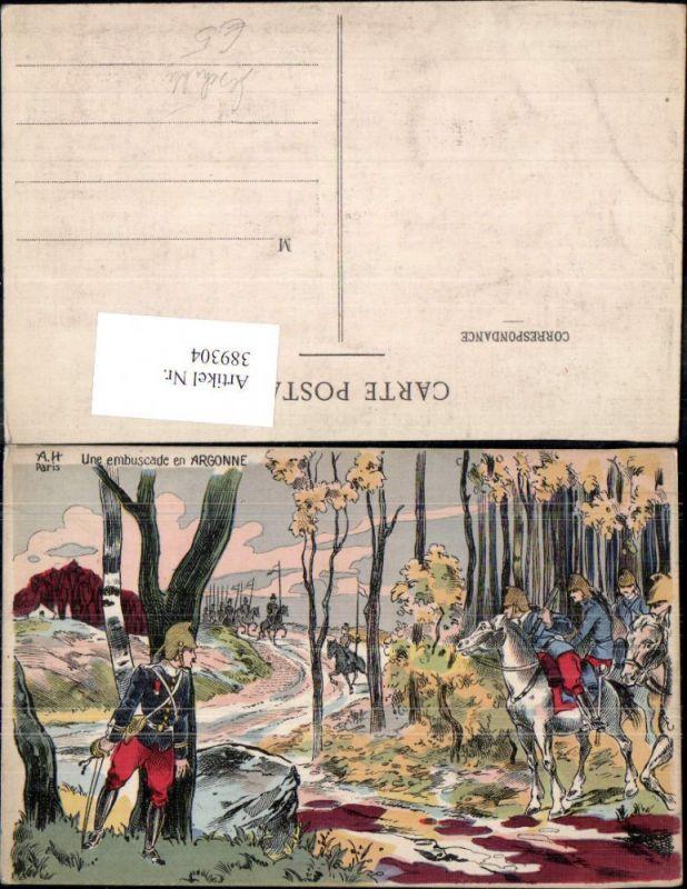 Künstler Ak Une embuscade en Argonne Soldaten 19 Jahrhundert