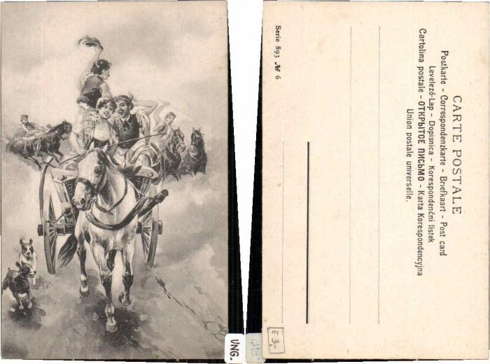62696;Ungarische Trachten Bauern Pferde