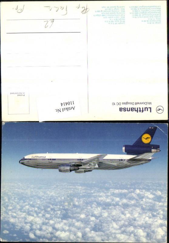 Verkehrsflugzeug Flugzeug Lufthansa McDonnell Douglas DC 10