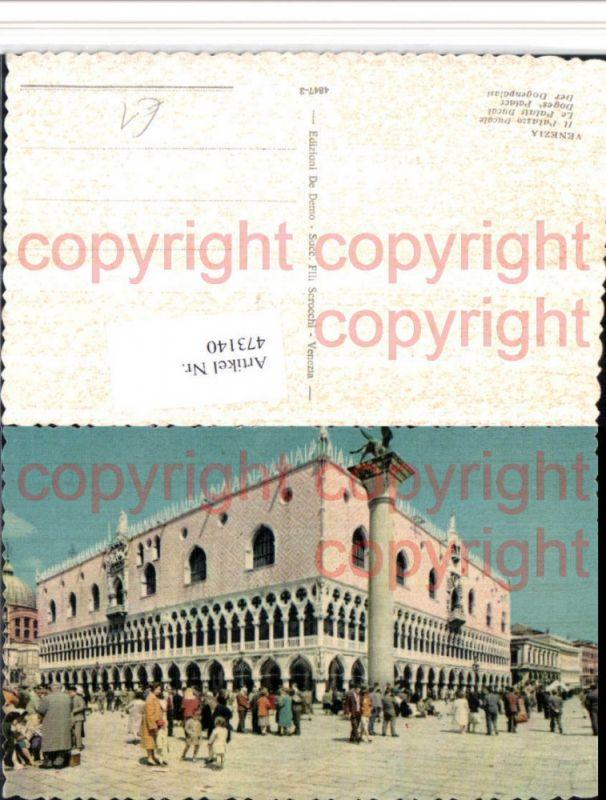Veneto Venezia Venedig Il Palazzo Ducale Dogenpalast Säule