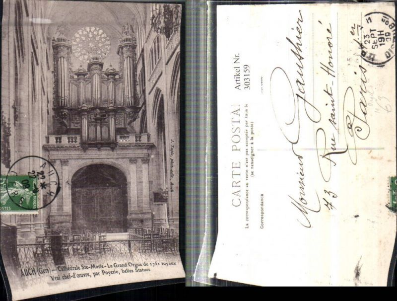 Auch Cathedrale Ste Marie Le Grand Orgue Kirche Innenansicht m. Orgel