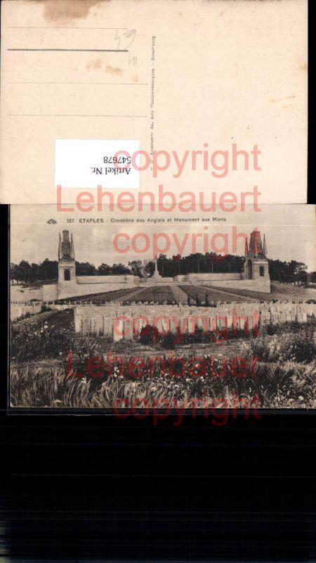 Französische Armee Etaples Friedhof Kriegsgräber Tod Gräber